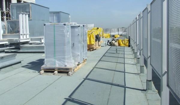 Budowa sterowania układu wentylacji na dachu budynku