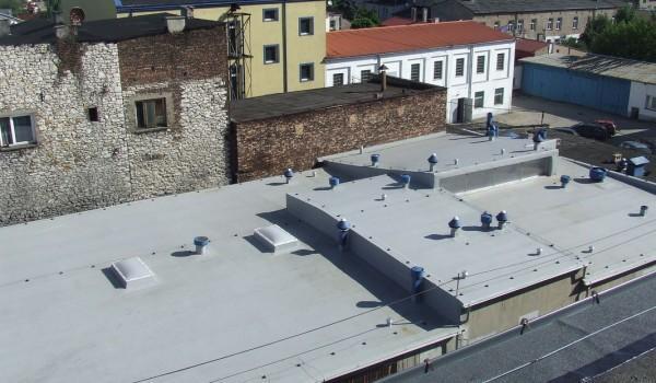 Widok dachu z góry