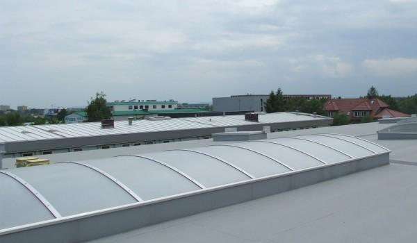 Dachy z uwypukleniami